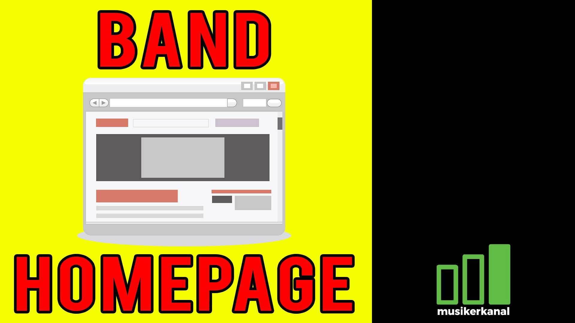 Band homepage