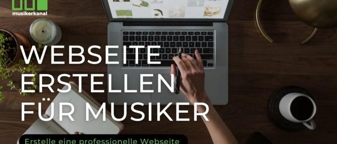 Webseite erstellen musiker
